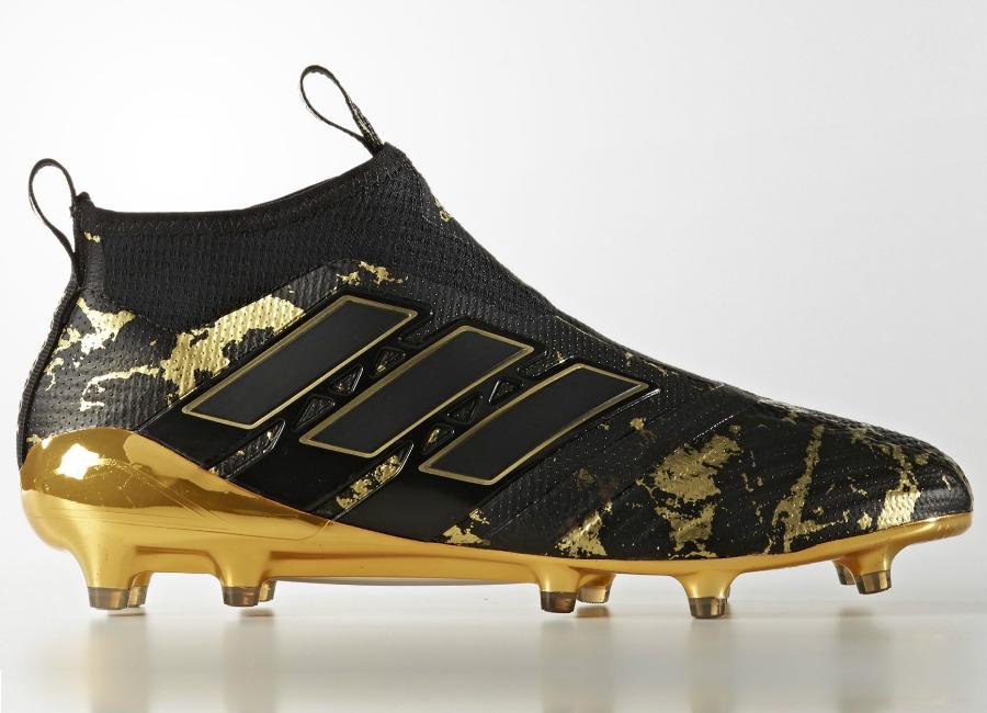 Adidas Pp Ace 17 Purecontrol Firm Ground Boots Core Black Matte Gold
