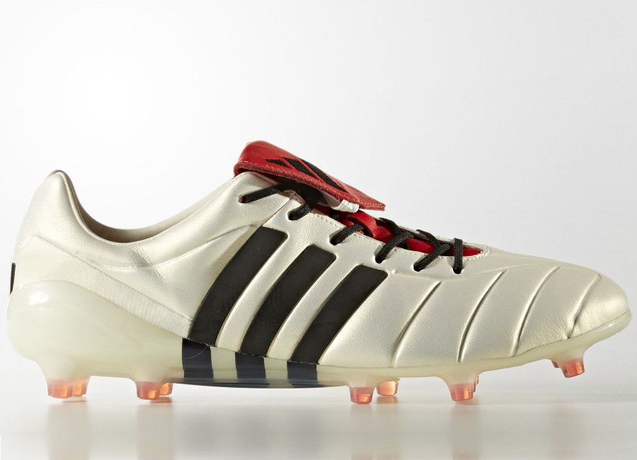 2d7f1ef8a2c4 Adidas Predator Mania Champagne Firm Ground Boots - Off White / Core Black  / Red