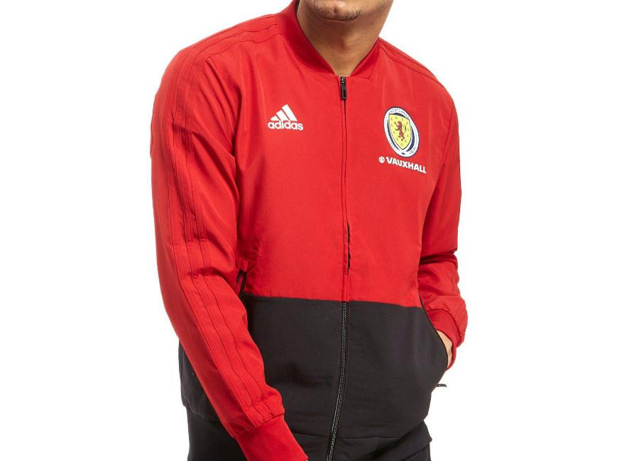 Adidas Scotland FA 2018 Presentation Jacket - Red / Black