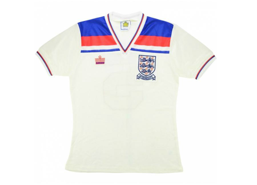 Admiral 1983 England U 21 Match Issue Home Shirt Wright