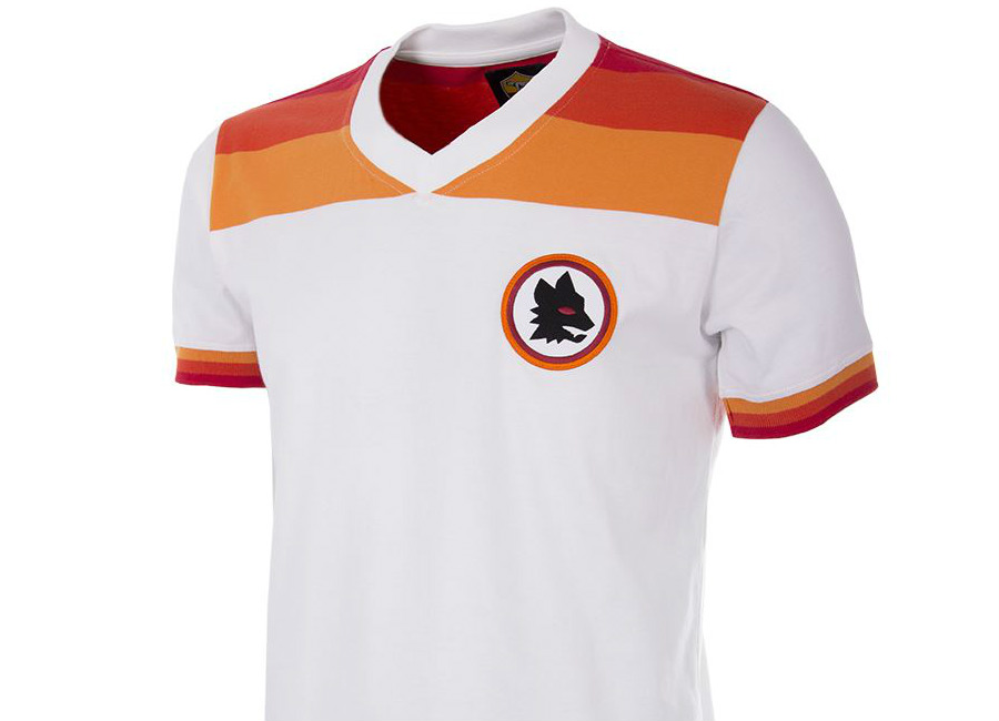 As Roma 1978 79 Copa Retro Football Shirt