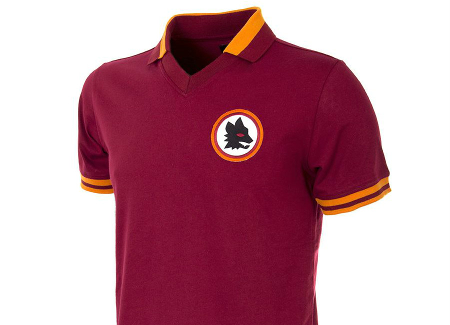 As Roma 1978 79 Copa Retro Home Shirt