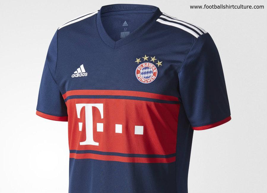 outlet store sale c97f6 846f0 Bayern Munich 17/18 Adidas Away Kit | 17/18 Kits | Football ...