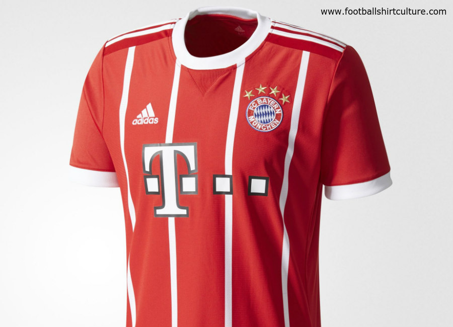 Bayern Munich 2017 18 Adidas Home Kit