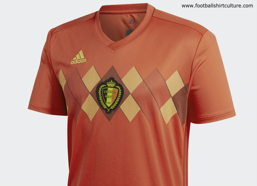 deba6d3cf73 Belgium 2018 World Cup Adidas Home Kit | 17/18 Kits | Football shirt blog