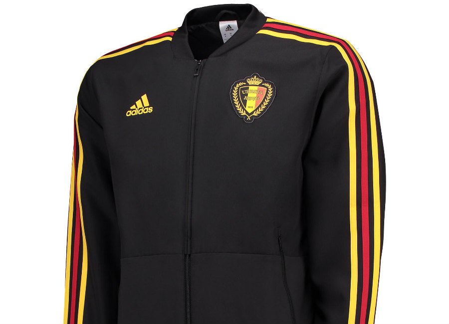 Belgium 2018 World Cup Adidas Presentation Jacket - Black / Bold Gold