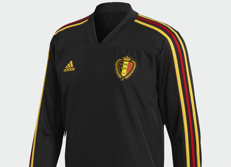 Belgium 2018 World Cup Adidas Training Top -  Black / Bold Gold
