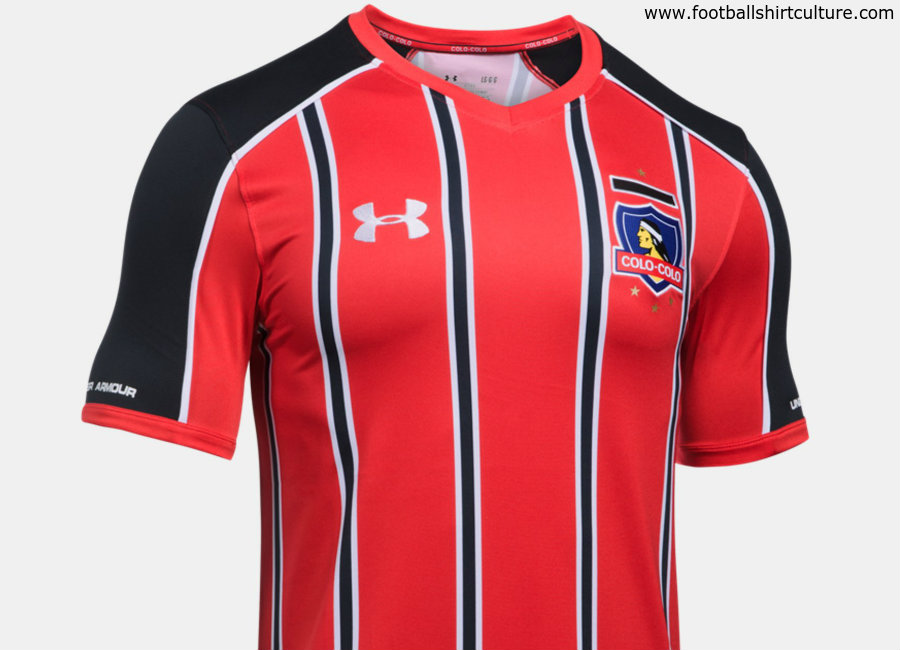 Colo colo 2017 18 under armour third shirt 17 18 kits for Under armor football shirts