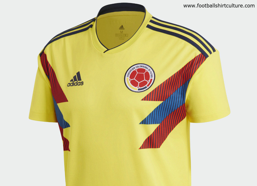118c7f98b04 Colombia 2018 World Cup Adidas Home Kit | 17/18 Kits | Football shirt blog