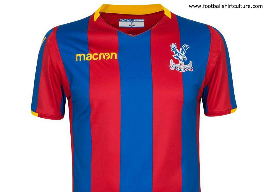Crystal palace 2017 18 macron home kit 17 18 kits for Sports shirts near me