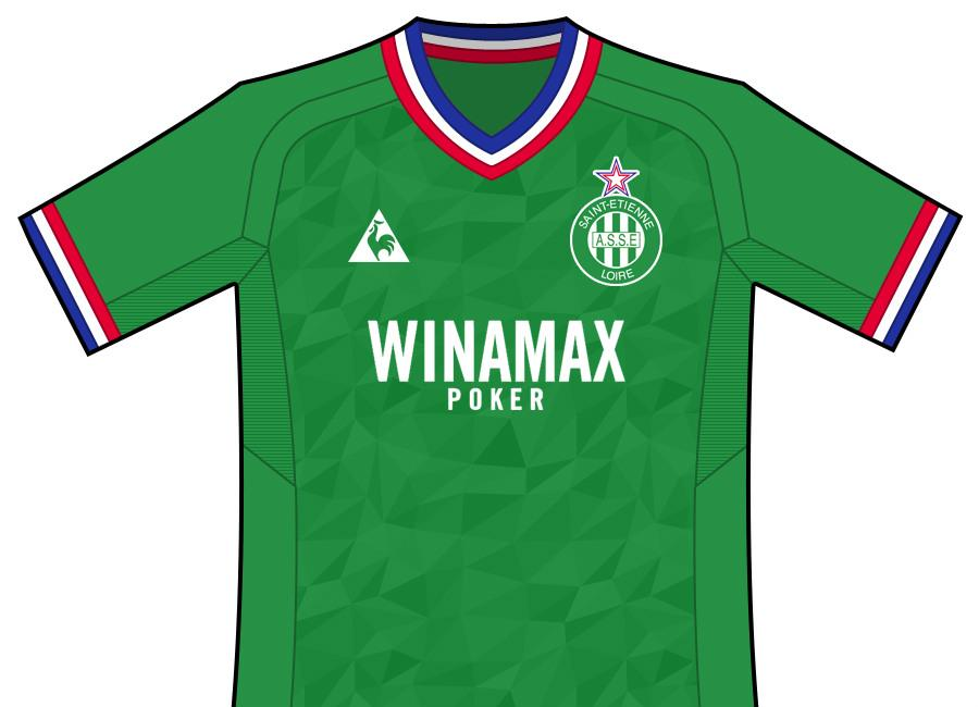 Df Concept As Saint Etienne Home Shirt By Taggo