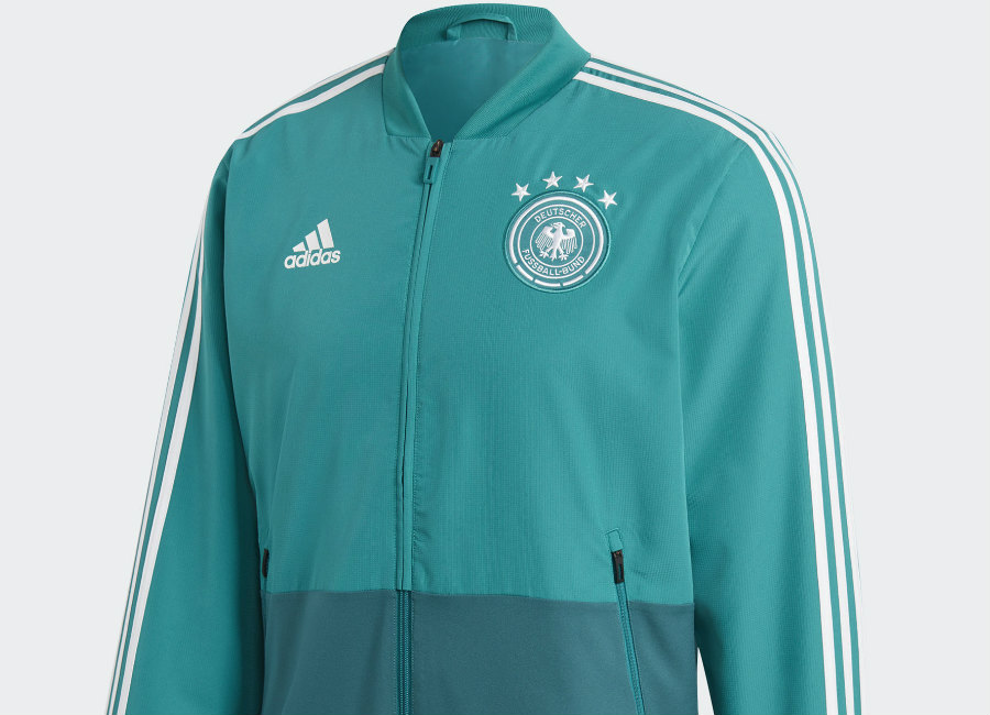 Germany 2018 World Cup Adidas Presentation Jacket - Eqt Green / White / Real Teal