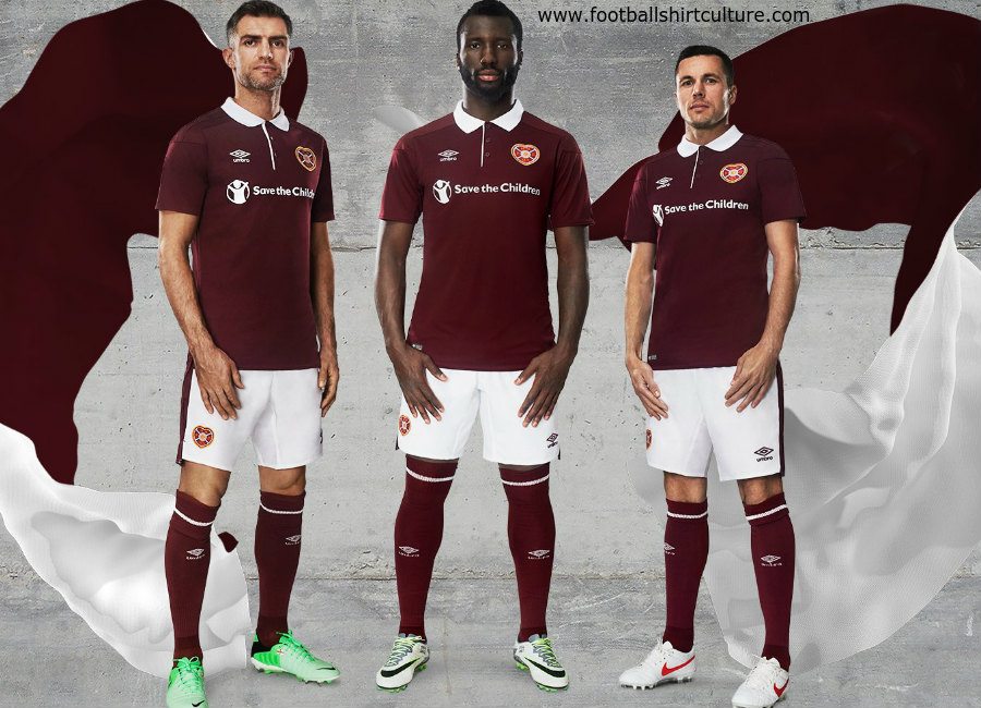 61d3e3bc1 Hearts 2017-18 Umbro Home Kit | 17/18 Kits | Football shirt blog