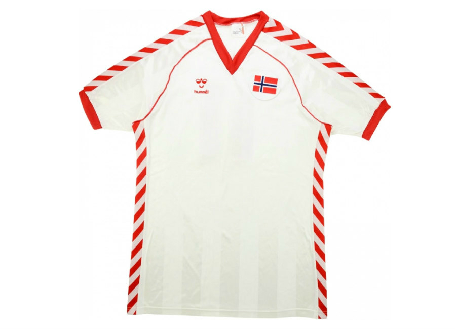 Hummel 1985 Norway Match Worn Away Shirt Thoresen