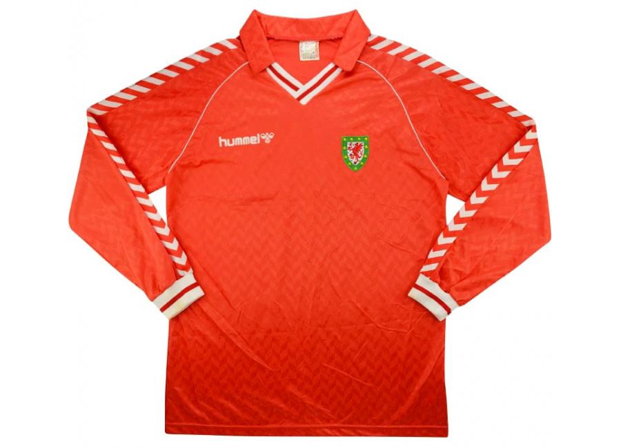 71cfd432f Hummel 1990 Wales Match Worn Home Shirt