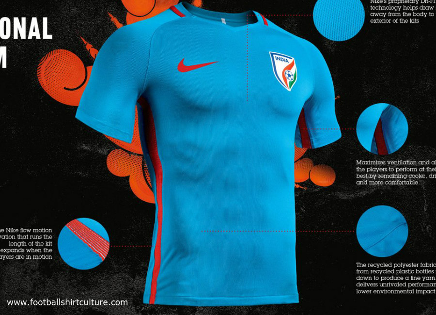 This is the new India 2017 home football kit by Nike. 279315c2e