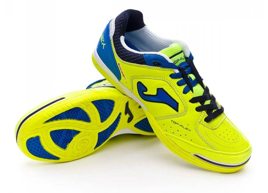 Joma Top Flex Leather In Yellow Navy Blue