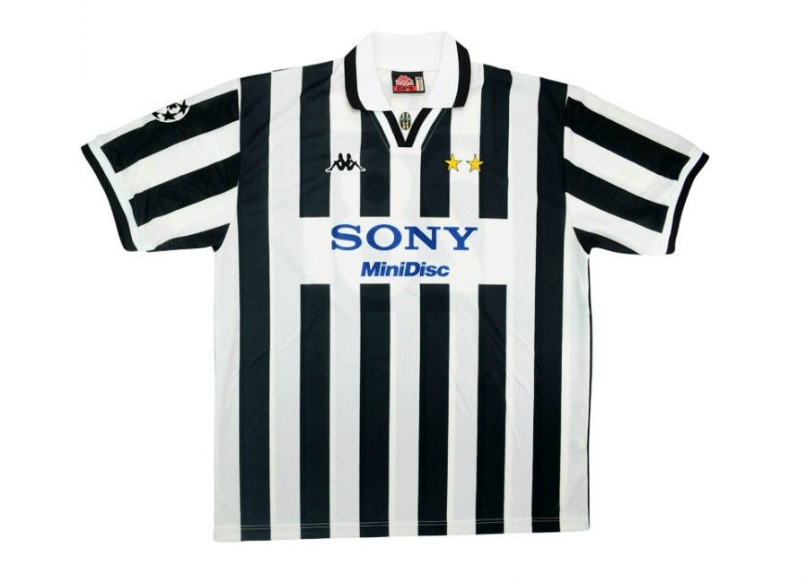 Kappa 1996 97 Juventus Match Issue Champions League Home Shirt Trotta