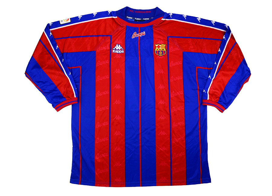 the best attitude 8c287 3df27 Kappa 1997-98 Barcelona Match Issue Home Shirt | Vintage ...