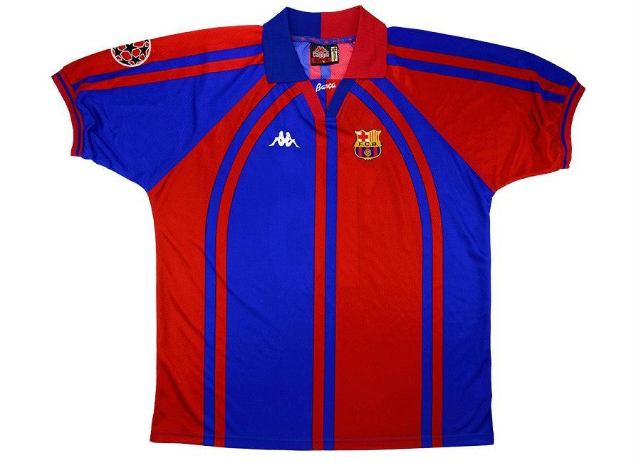 f318079c8 Kappa 1997-98 Barcelona Match Worn Champions League Home Shirt ...