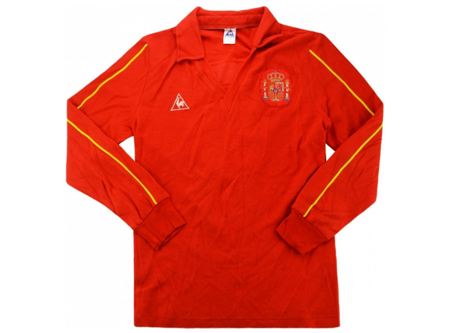 Le Coq Sportif 1987 Spain U-21 Match Worn Home Shirt