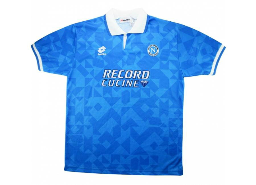 Lotto 1994 95 Napoli Match Issue Uefa Cup Home Shirt Bordin