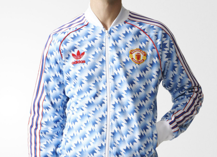 Manchester United Fc Adidas Originals 90s Away Jersey Track Jacket