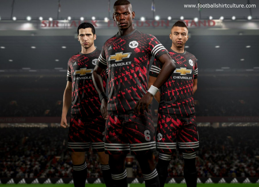 Manchester United X Adidas X FIFA 18 Digital Fourth Kit