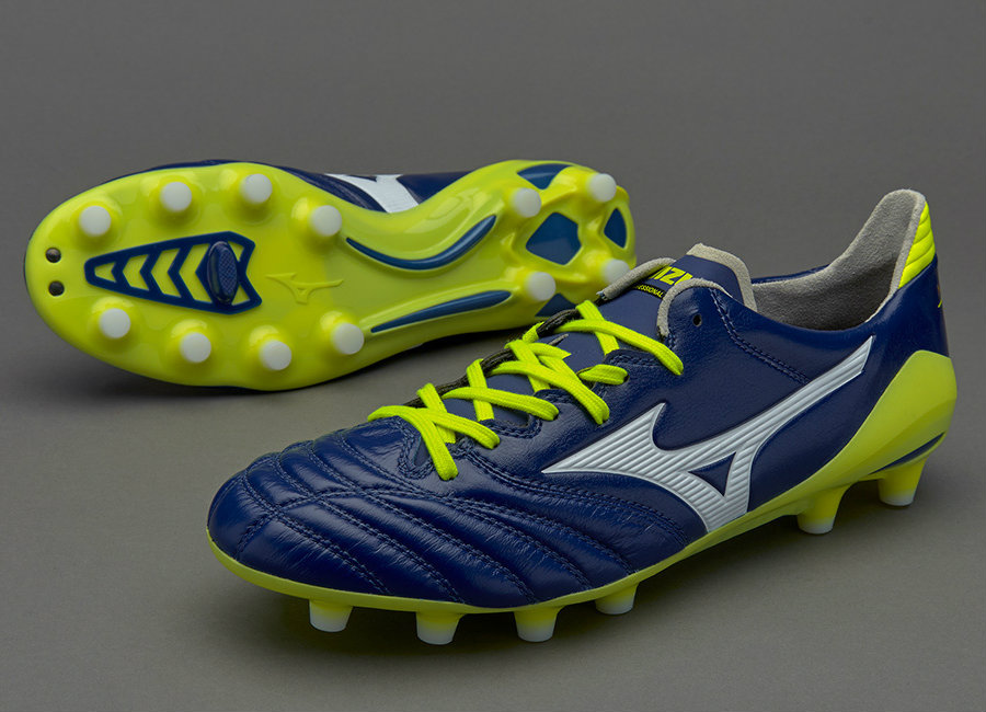 newest 8ad1e 63664 Mizuno Morelia Neo II MD - Blue Print / White / Safety ...