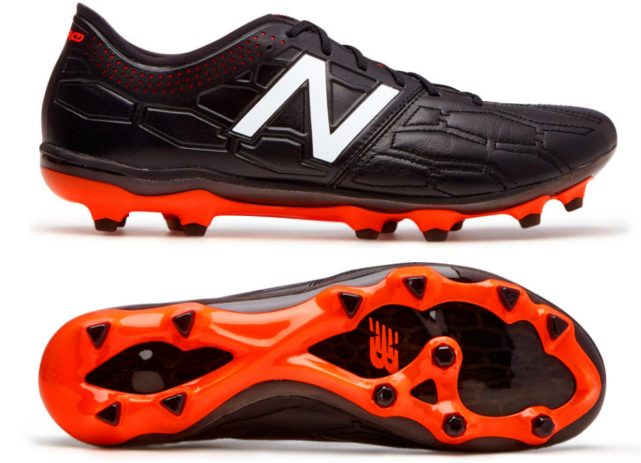 New Balance Visaro 2 0 K Leather Fg Black Alpha Orange
