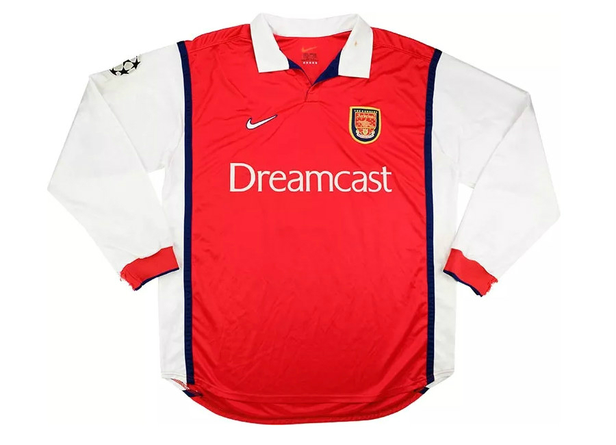 Nike 1999 00 Arsenal Match Worn Champions League Home