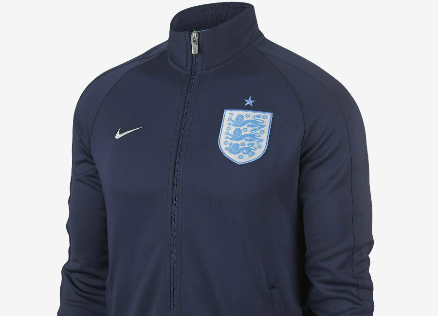 online store 088a2 6930d Nike England N98 Authentic Track Jacket Midnight Navy Metallic Silver
