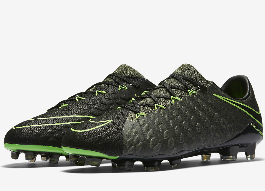 Nike Hypervenom Phantom 3 Tech Craft Fg Black Sequoia Palm Green Electric Green
