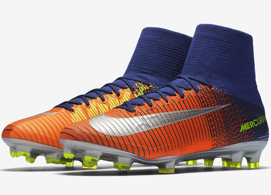 Nike Mercurial Superfly V Fg Time To Shine Deep Royal Blue Total Crimson Bright Citrus Chrome