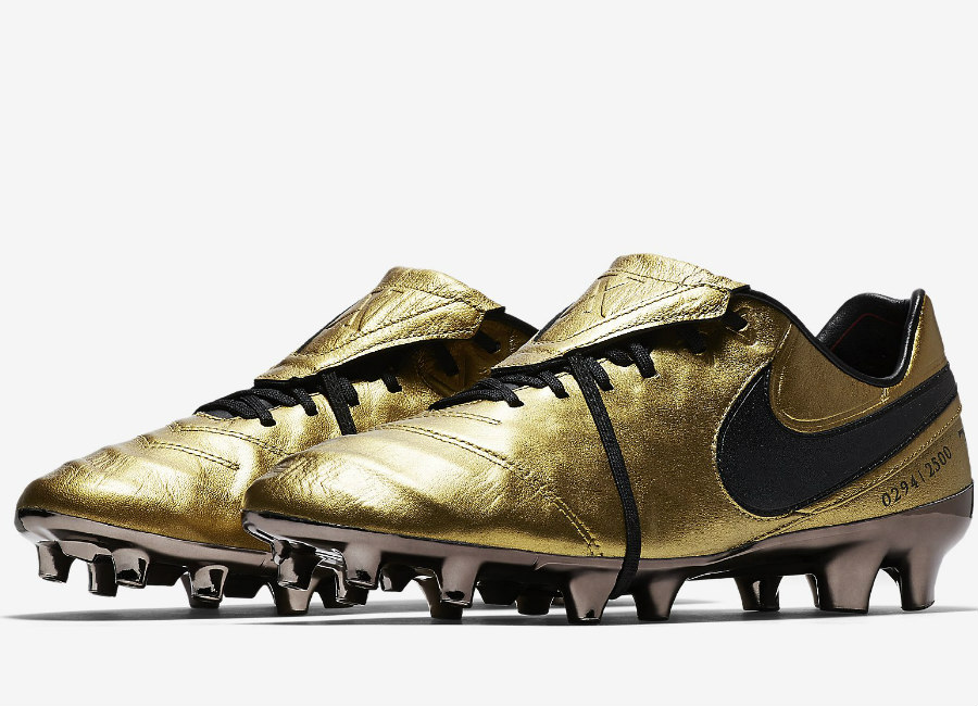 Nike Tiempo Legend Vi Se Fg Totti X Roma Metallic Gold Team Crimson Black