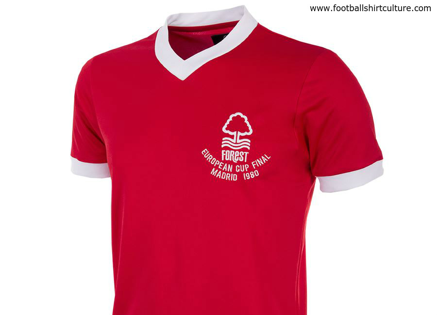 Nottingham Forest 1980 European Cup Final Copa Retro Shirt