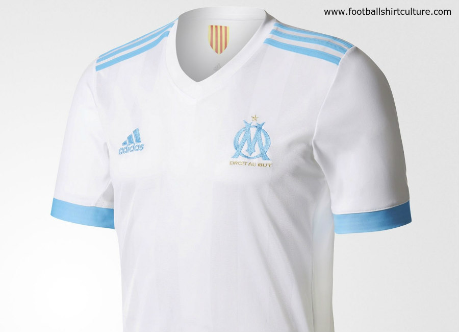detailed look 6cc73 75f7a Olympique Marseille 17/18 Adidas Home Kit   17/18 Kits ...