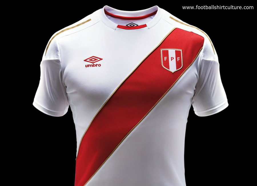 Peru 2018 World Cup Umbro Home Kit