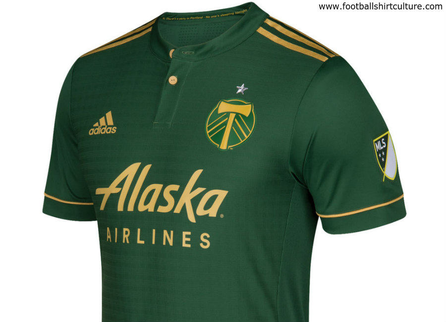 reputable site 581a8 ecb9e Portland Timbers 2017 Adidas Home Kit | 17/18 Kits ...