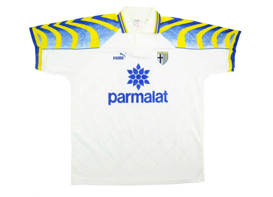 Puma 1995 96 Parma Match Worn Home Shirt Stoichkov