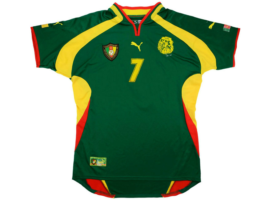 7323e37eafb Puma 2000 Cameroon Match Issue Africa Cup of Nations Final Home ...