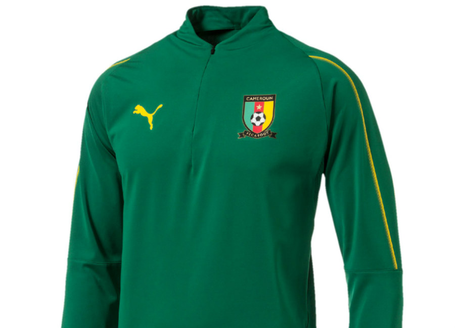 Puma 2018 Cameroon 1/4 Zip Training Top - Power Green