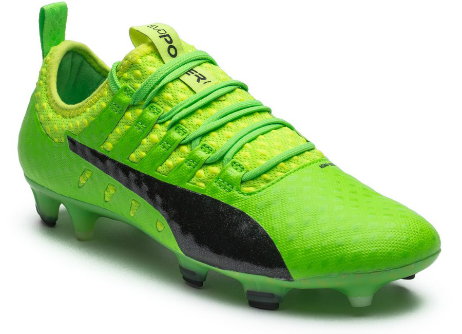 90121318f771 Puma evoPOWER Vigor 1 FG - Green Gecko   Puma Black   Safety Yellow ...
