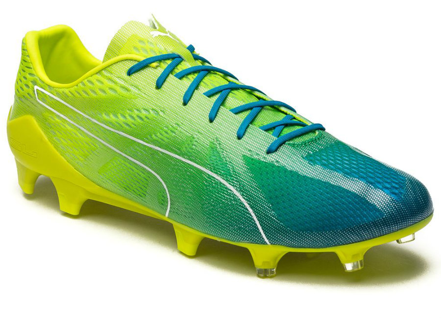 Puma Evospeed Fresh 2 0 Fg Safety Yellow Puma White Blue Danube