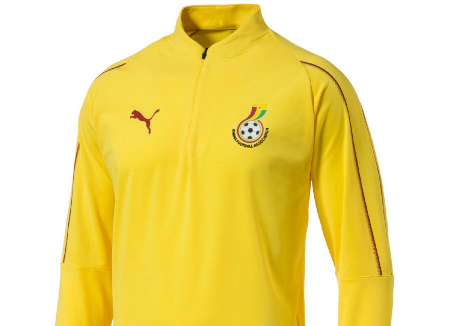 Puma Ghana 1/4 Zip 2018 Training Top - Dandelion