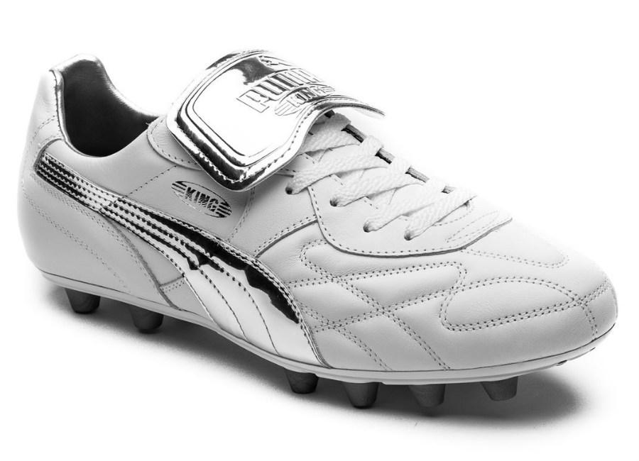 6c7f27be777 Puma King Top M.I.I Chrome FG - Puma White   Silver