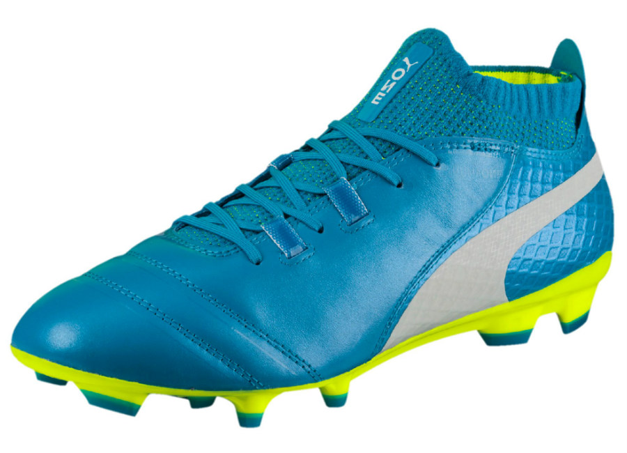 Puma One 17.1 FG - Atomic Blue/ Puma White / Safety Yellow