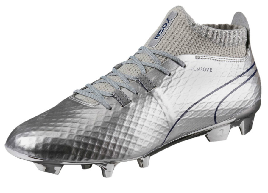 Puma One Chrome Fg Silver Blue Depths