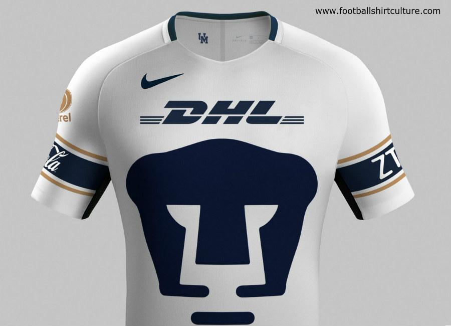 6385f74aeb3 Pumas UNAM 17 18 Nike Home Kit