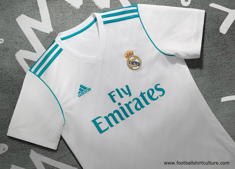 timeless design 64f91 b869e Real Madrid 2017-18 Adidas Home Kit | 17/18 Kits | Football ...